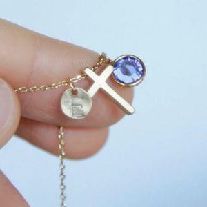 Personalized Cross Necklace/Bracelet, Handmade 🌸